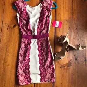 NWT Lace detail mini dress